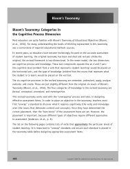 Bloom's Taxonomy: Categories in the Cognitive ... - Licei di Bra