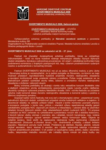 čítaj viac... - MsKS mesta Levoča - Mesto Levoča