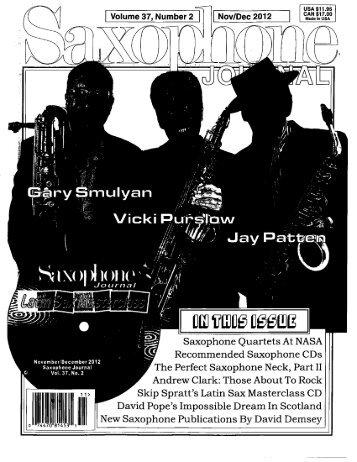 Saxophone Journal - Gary Smulyan