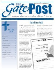 Paid in full! - Central Illinois District - Lutheran Church Missouri Synod