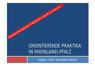 Präsentation Einführungsveranstaltung Orientierende Praktika SoSe ...