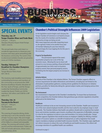SPECIAL EVENTS - Tempe Chamber of Commerce