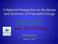 A National Perspective on the Abuse and Diversion of Prescription ...