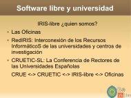 Software libre y universidad - EHUtb