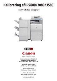 Kalibrering af iR 2880-3080-3580 med J1.pdf - DOKIT.dk