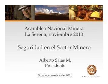 Seguridad en el Sector Minero-SONAMI