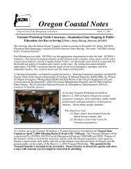 Oregon Coastal Notes Newsletter—Tsunami Workshop (March 31 ...