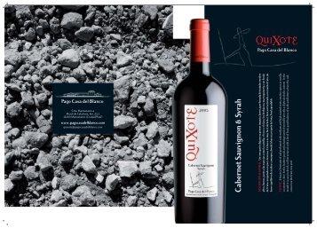 Catálogo QuiXote Cabernet Sauvignon-Syrah - Mindeza