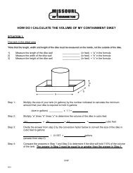 HOW DO I CALCULATE THE VOLUME OF MY CONTAINMENT DIKE?