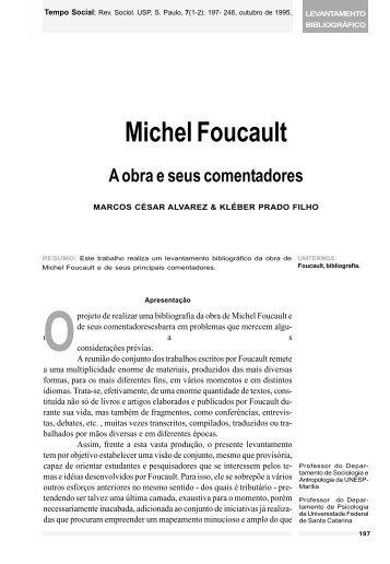 Michel Foucault: O obra e seus comentadores - fflch - USP