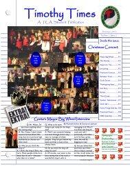 Timothy Times (Jan 2012) - Timothy Christian Academy