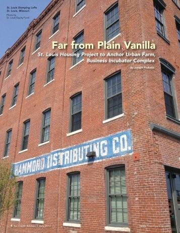 Far from Plain Vanilla: St. Louis Housing Project to Anchor Urban ...