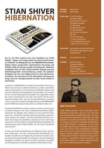 Hibernation Presseinfo (PDF, Deutsch & English) - NewEx Records