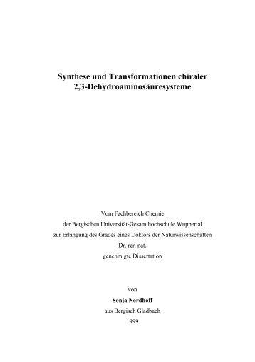 Synthese und Transformationen chiraler 2,3 ...