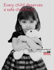 Every child deserves a safe childhood. - National Association of ...