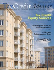 Tax Credit Equity Sources - National Housing & Rehabilitation ...