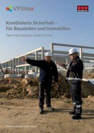 Kombinierte Sicherheit für Baustellen und Immobilien ... - bei VPSitex