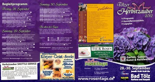 Freitag, 28. September Sonntag, 30. September ... - Tölzer Rosentage