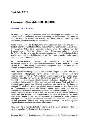 Berichte 2012 - THW Germersheim