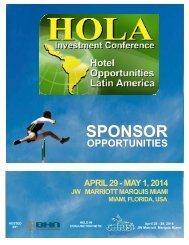 HOLA14 Sponsor Brochure - HOLA Conference