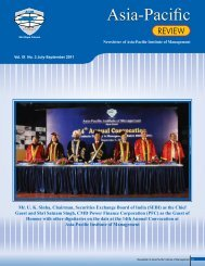 Vol. IX No. 3 July-September 2011 - Asia Pacific Institute of ...
