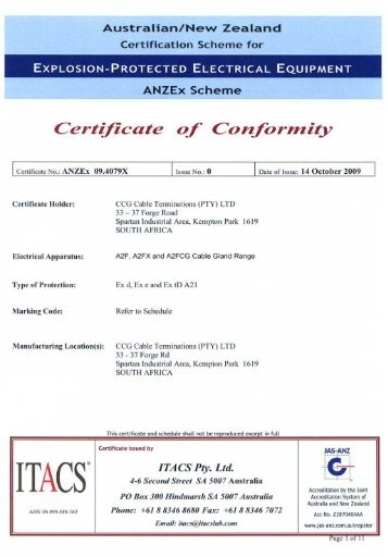 Det Norske Veritas Ec=Certificate Of Conformity - Protect - O Firmie