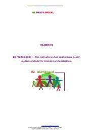 HANDBOK - Be multilingual!