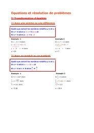4e - Equations et résolution de problèmes - Parfenoff . org