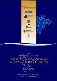 europejskie ramy kwalifikacji w obszarze sportu i turystyki program