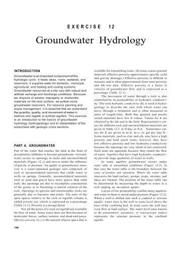 Groundwater Hydrology - Geological Sciences, CMU