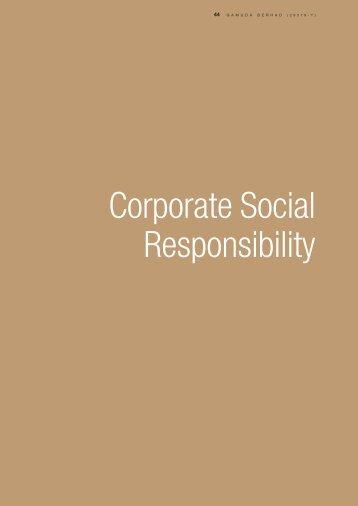 Corporate Social Responsibility - Gamuda Berhad - Investor Relations