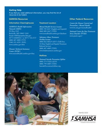 Post-Deployment-Families - SAMHSA Store - Substance Abuse and ...