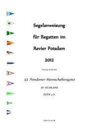 Segelanweisung für Regatten im Revier Potsdam 2012