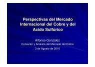 Perspectivas del Mercado Internacional del Cobre y del Acido ...
