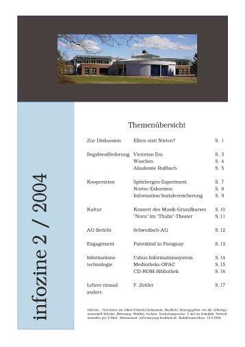 infozine 2 / 2004 - Albert Einstein Gymnasium