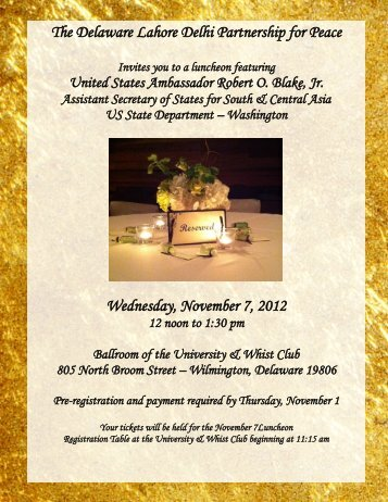 Invites - College of Arts and Sciences - University of Delaware