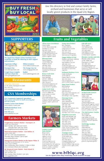 2010 Directory - Buy Fresh Buy Local