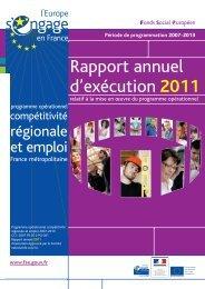 Le Rapport annuel d'exécution 2011 - FSE