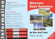 Discover East Yorkshire by Bus and Train Visitor Guide