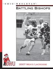 2007 Ohio Wesleyan men's lacrosse - Ohio Wesleyan University