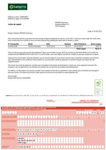 0 3 5 6 5 7 BE 3 8 0 0 1 5 0 9 4 2 4 2 7 2 GEBABEBB Lampiris Rue ...
