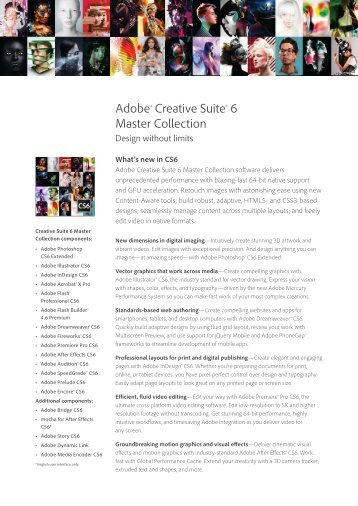 Adobe CS6 Master Collection Suite Overview - Metro Systems ...