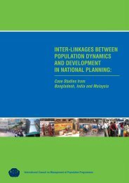 Inter-lInkages between PoPulatIon DynamIcs anD DeveloPment In ...