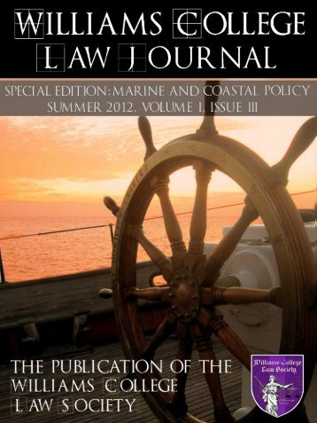 Volume I Issue III Summer 2012 - Williams College Law Society