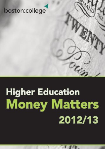 Higher Education Finance Guide - Boston College