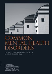CG123 Common mental health disorders - National Institute for ...