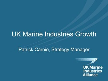 UK Marine Industries Growth - Society of Maritime Industries
