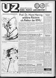 Prof. Dr. Horst Hennig erklärte Rücktritt als Rektor der KMU