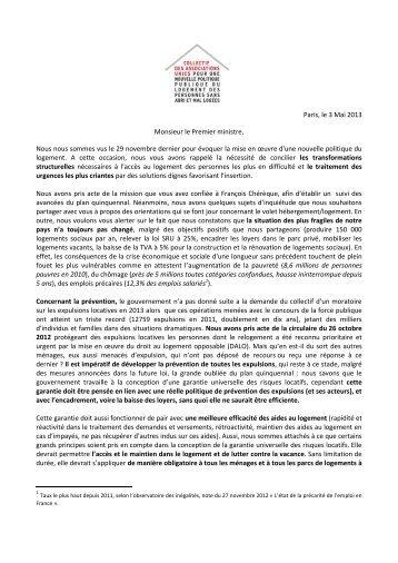 Lettre ouverte au Premier Ministre - Ligue des droits de l'Homme