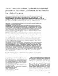 An oxytocin receptor antagonist (atosiban) in the ... - Porodnice.cz